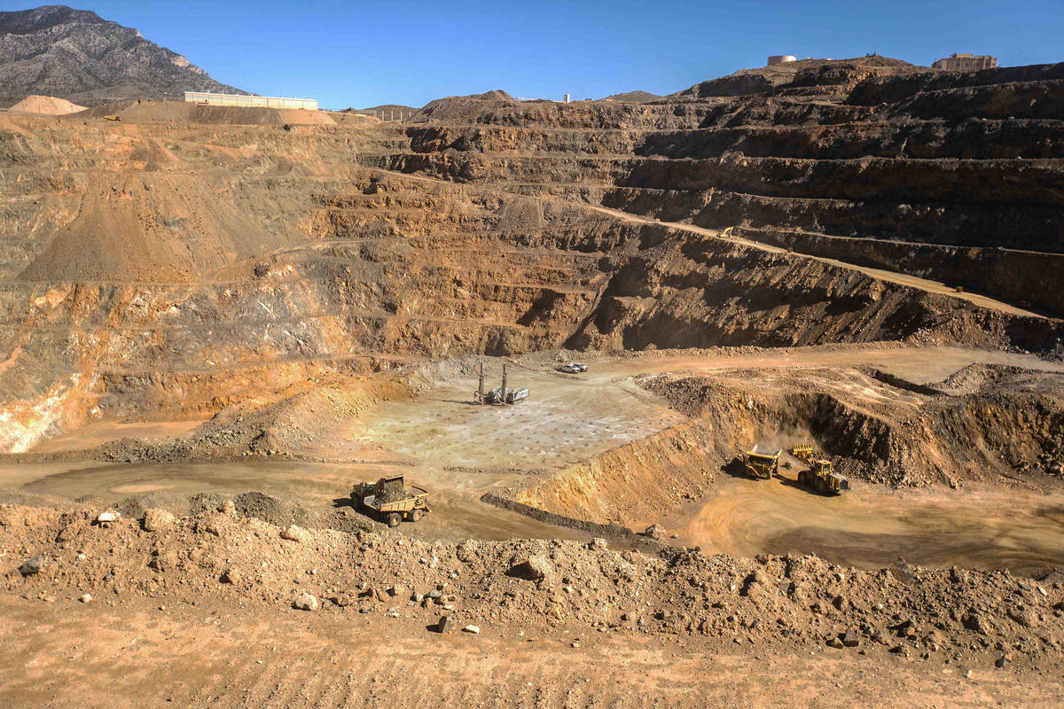 Las Vegas-based company MP Materials conducts mining operations on Thursday, April 29, 2021, at ...