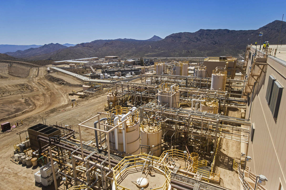 Mountain Pass Rare Earth Facility, owned and operated by Las Vegas-based company MP Materials, ...