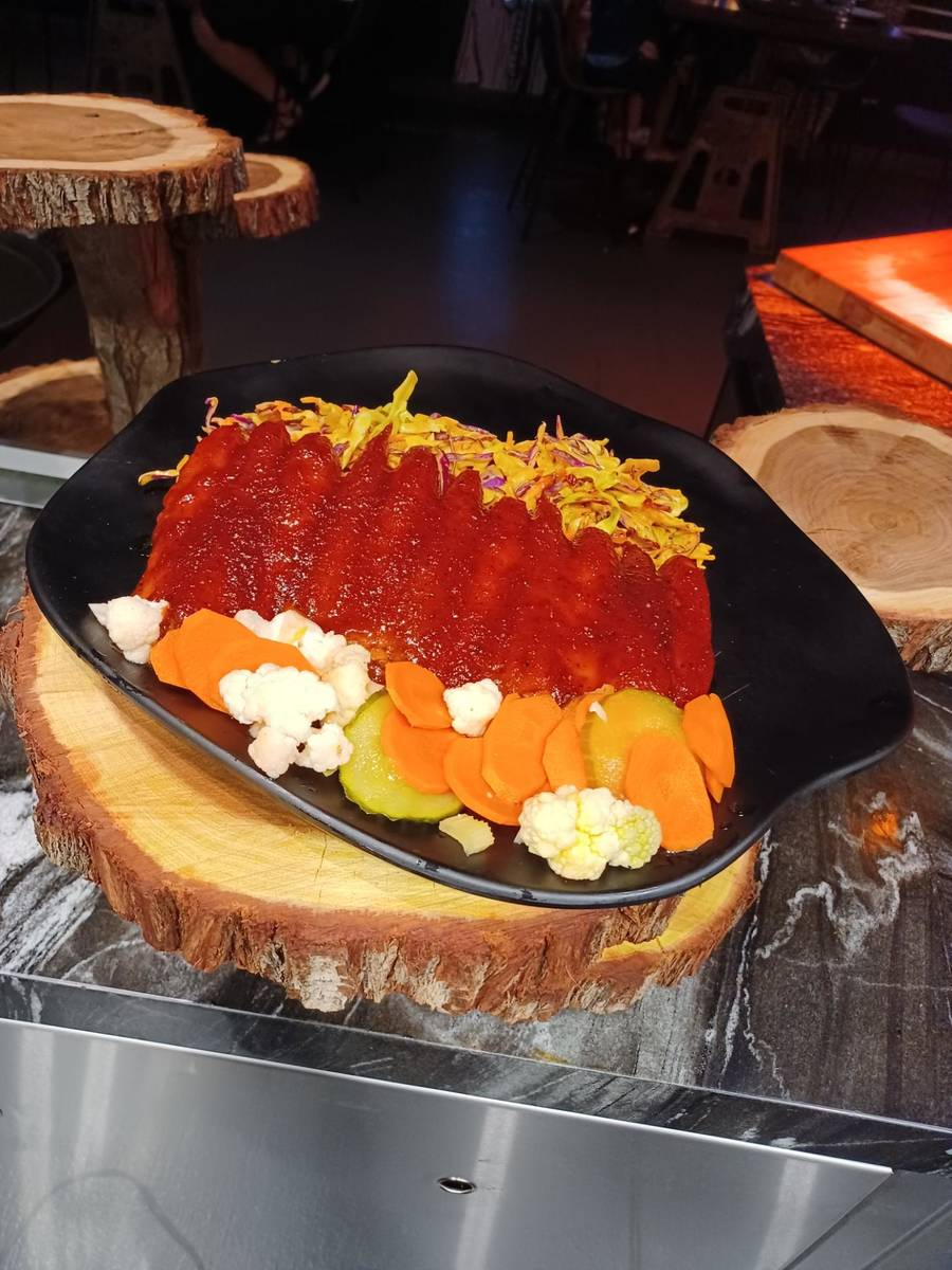 """BBQ Carrot """"Ribs"""" from The Beast at Area15 (The Beast)"""