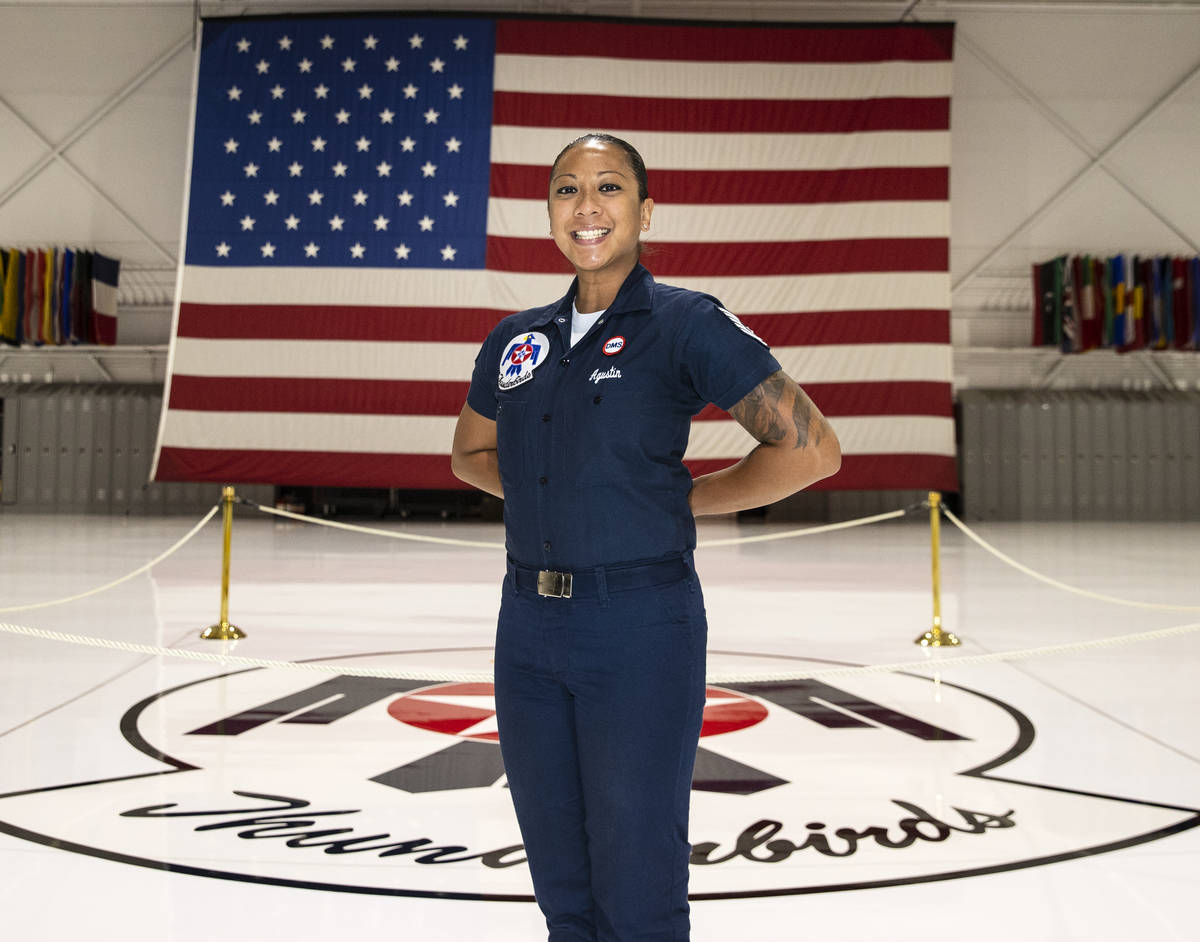 Tech. Sgt. Heidi Agustin is the material management specialist for the Thunderbirds at Nellis A ...
