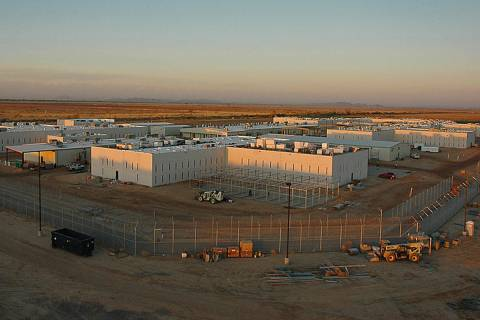 The Nevada Southern Detention Center in Pahrump, owned by CoreCivic, a private company. (Las Ve ...