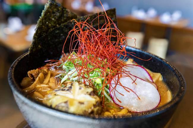 Spicy garlic miso ramen at Chikyu. (Benjamin Hager)