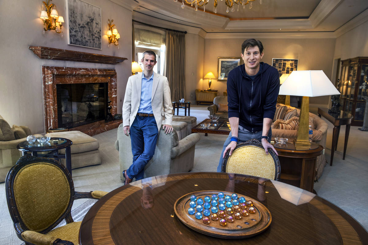 Dreamscape Companies CEO Eric Birnbaum, right, and Chief Investment Officer Thomas Ellis, stand ...