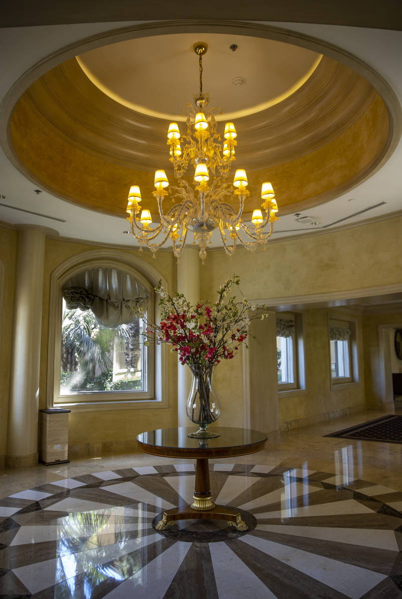A decorative hallway about the Palazzo Suites during a tour of the Rio on Monday, May 3, 2021 i ...