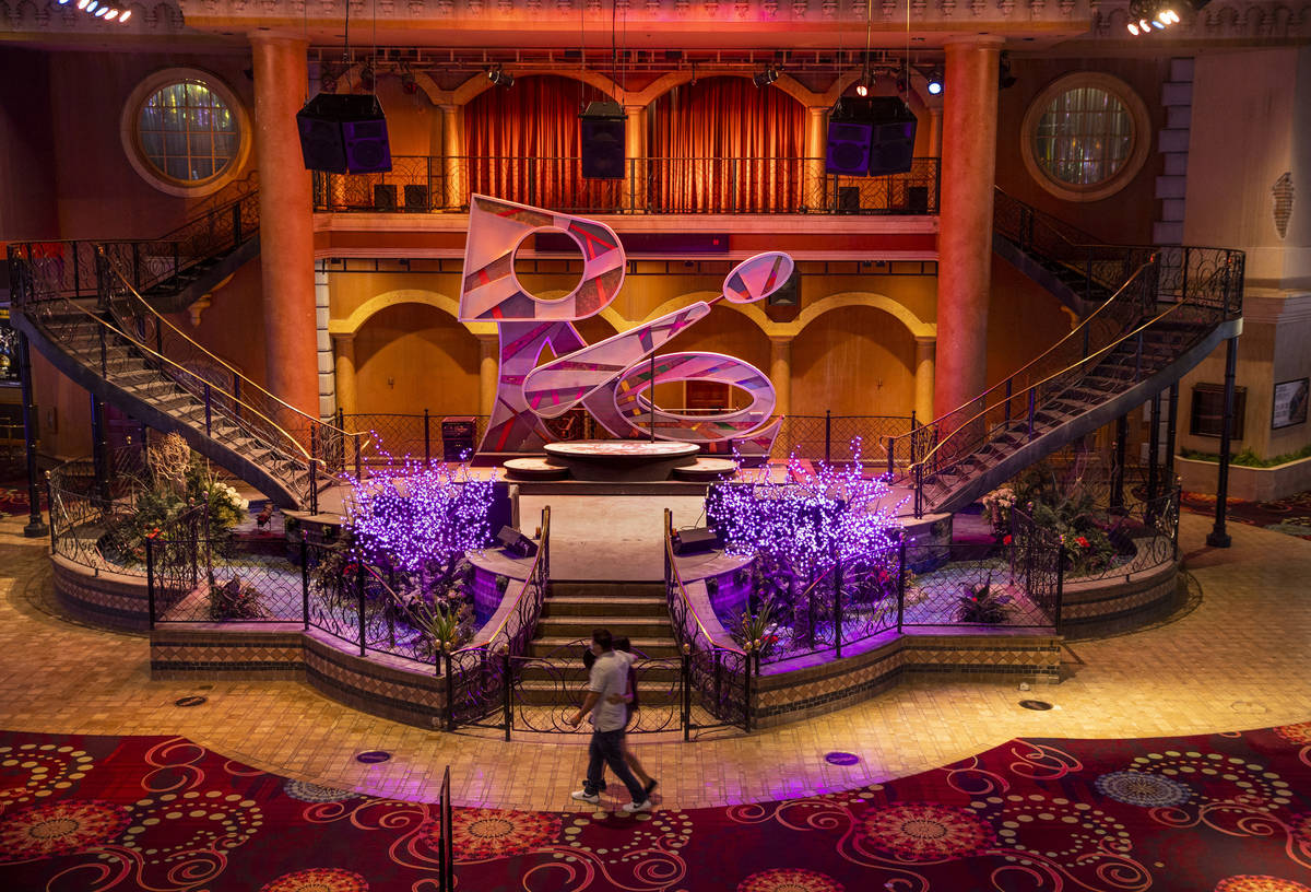 Stage area in the Rio casino during a tour with the new ownership group, Dreamscape Companies, ...