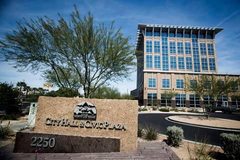 The North Las Vegas City Hall. (Las Vegas Review-Journal)