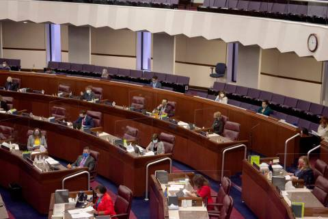 The Assembly chamber is seen Friday, July 31, 2020, during the first day of the 32nd Special Se ...