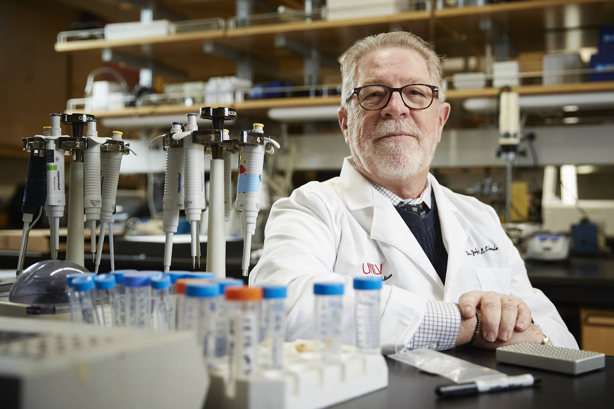 Jeffrey Ebersole, associate dean for research at UNLV's School of Dental Medicine, is involved ...