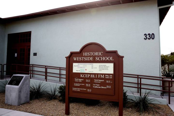 Historic Westside school at the corner of D Street and Washington Avenue is seen on Monday, Feb ...