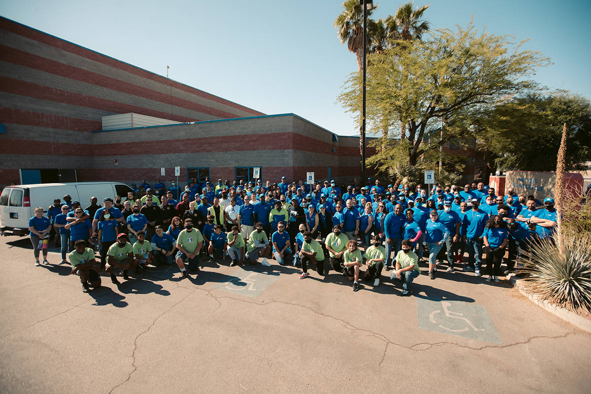 Rebuilding Together Southern Nevada Volunteers helped renovate spaces at Andre Agassi Boys and ...