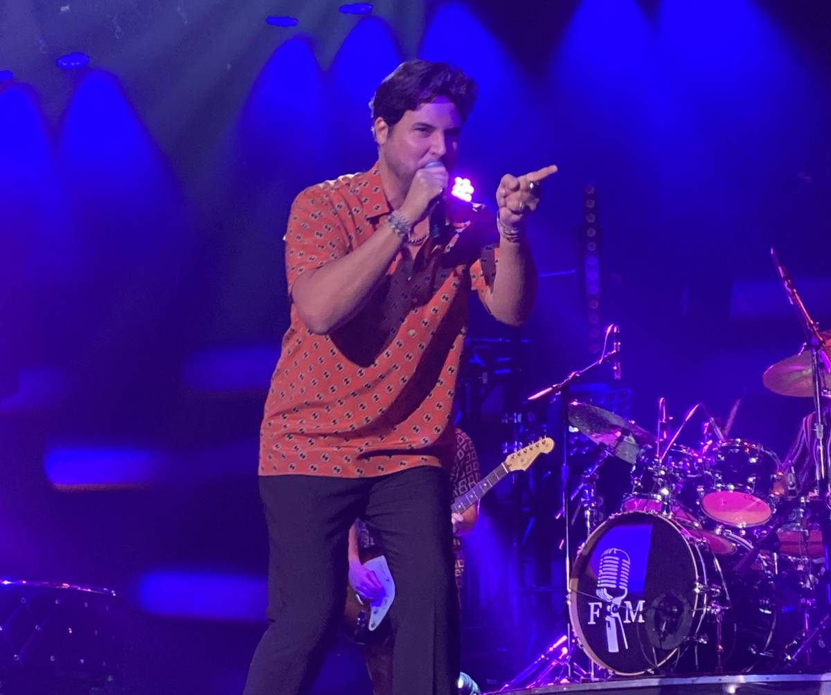 Frankie Moreno performs for the first time in 15 months at South Point Showroom on Friday, Jue ...