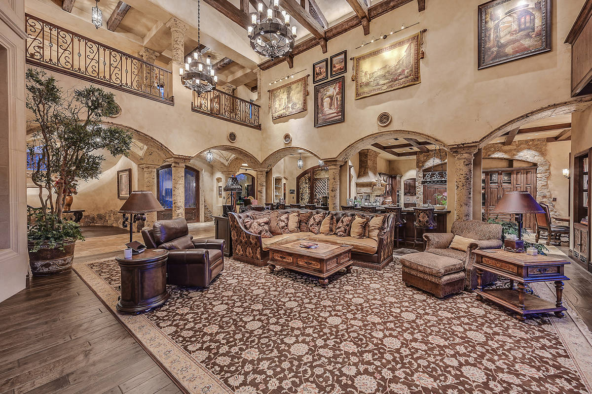 The Michael Gaughan home is a two-story property with 8,119 square feet. (Darin Marques Group)
