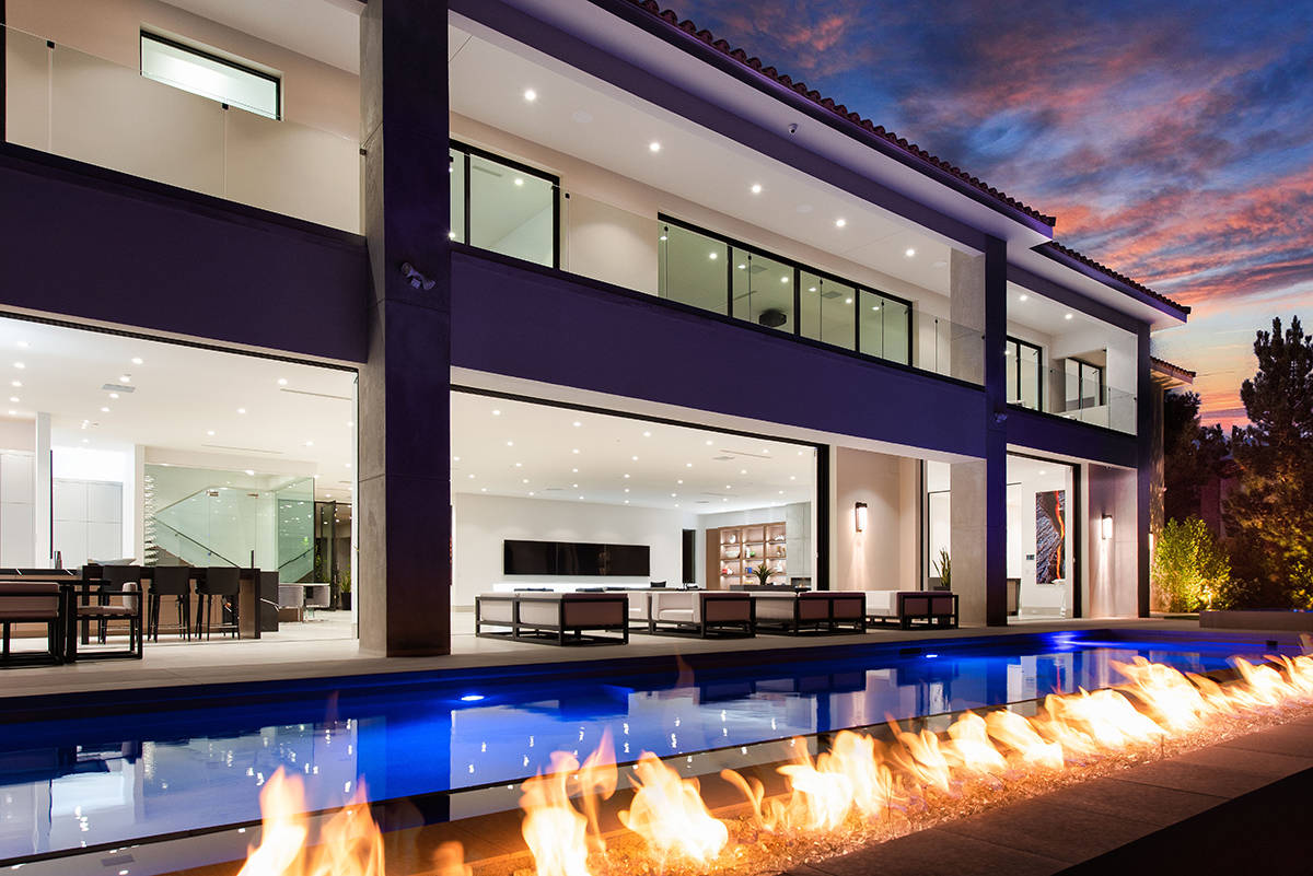 The home in Southern Highlands measures 12,095 square feet and has six bedrooms and eight bathr ...