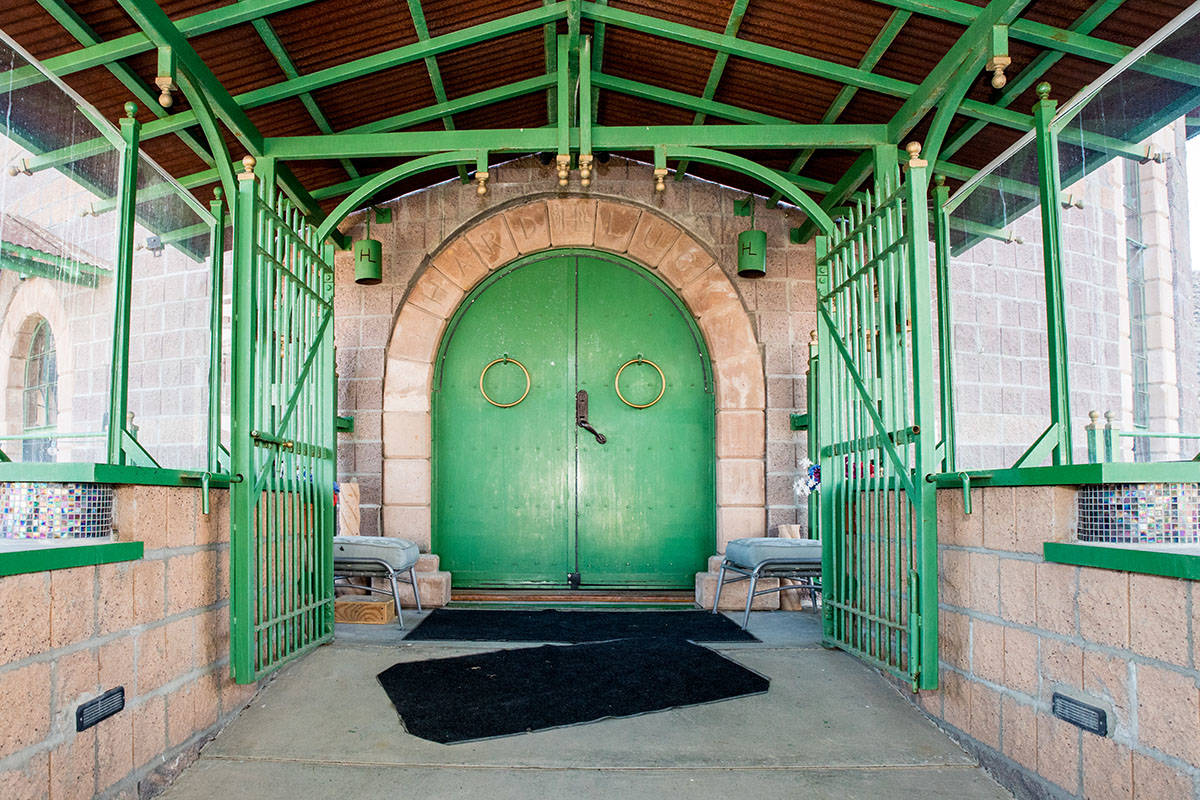 The front door to the castle. (Tonya Harvey Real Estate Millions)
