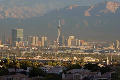 The Las Vegas Valley will be hot, dry and clear through the end of the week, according to the L ...