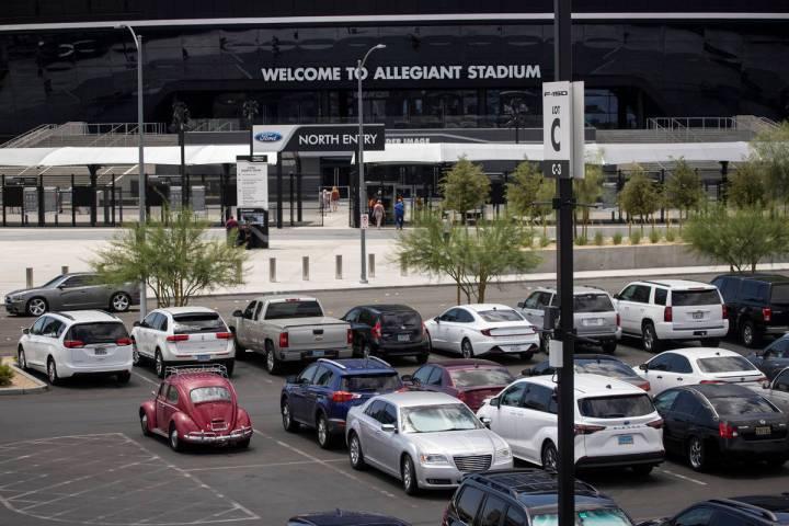 Parking lot C at Allegiant Stadium in Las Vegas, Thursday, June 3, 2021. (Erik Verduzco / Las V ...