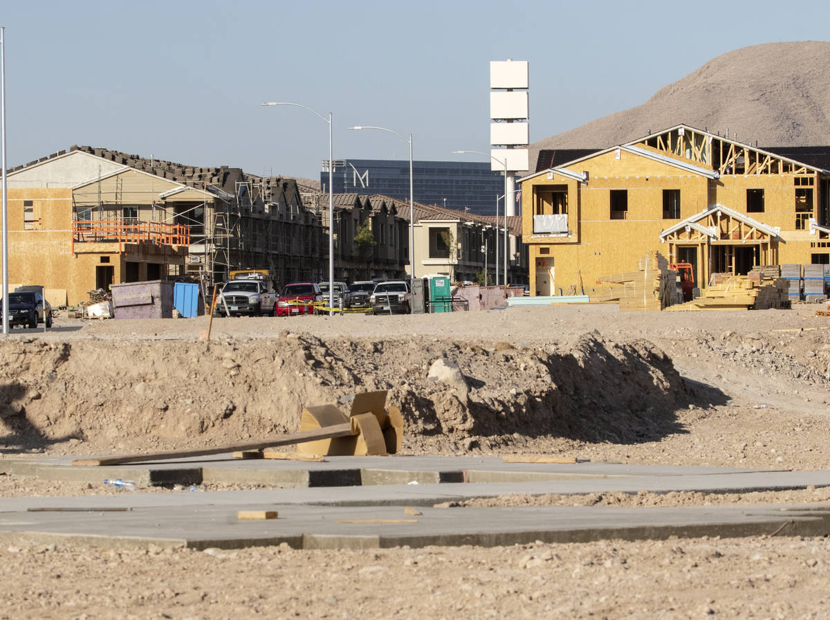 The M Resort is seen behind a Lennar housing development near the north side of St. Rose Parkwa ...