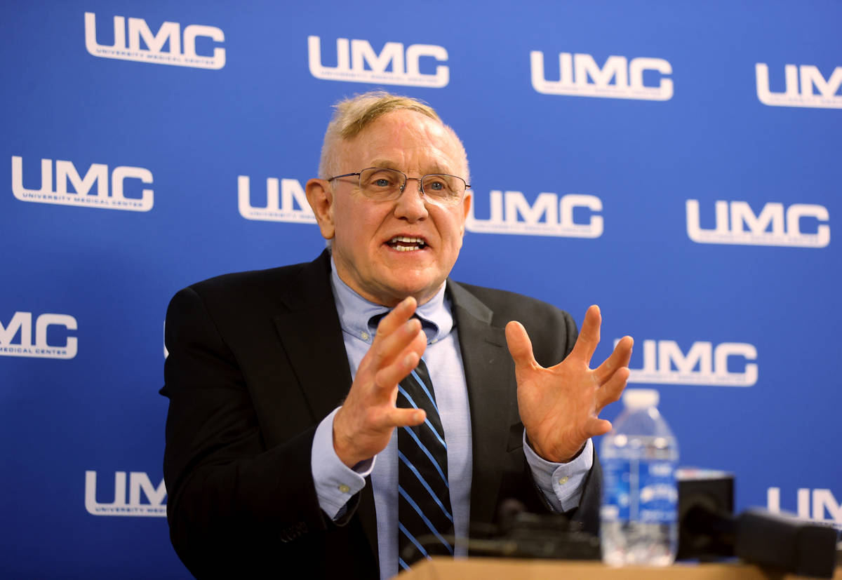 UMC Wellness Center Medical Director Dr. Jerry Cade announces expanded HIV testing on 40th anni ...