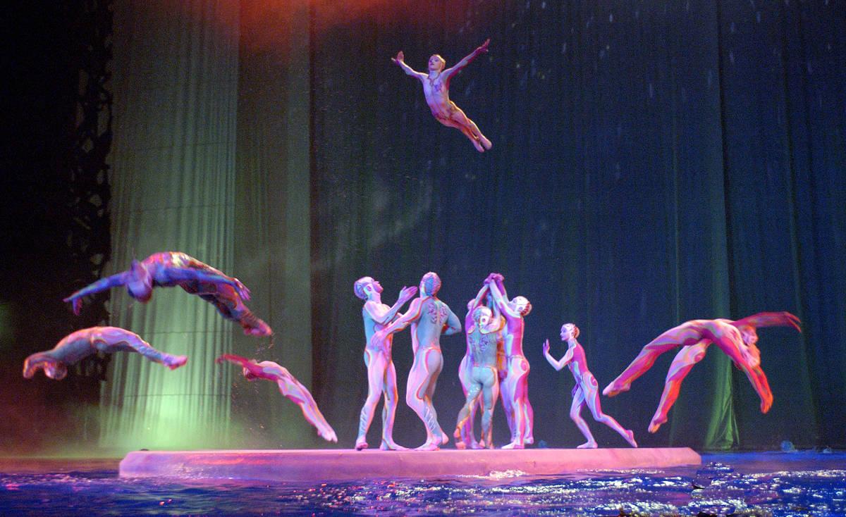 "A scene from the Cirque du Soleil show ""O"" at Bellagio. (Cirque du Soleil)"