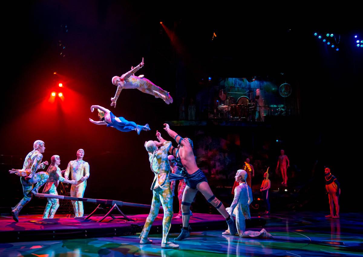 "A scene from the Cirque du Soleil show ""Mystere"" at Treasure Island. (Cirque du Soleil)"