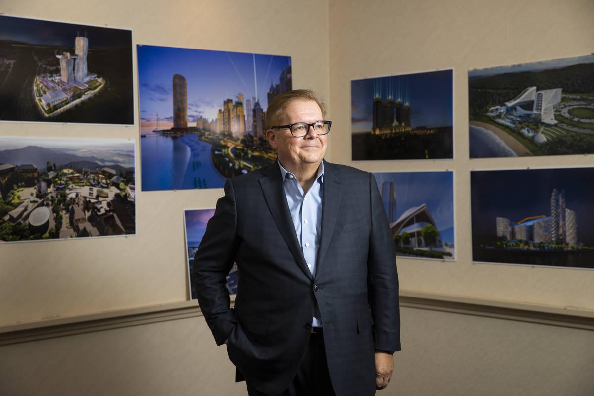 Architect Paul Steelman poses for a portrait at the Steelman Partners office in Las Vegas on Tu ...