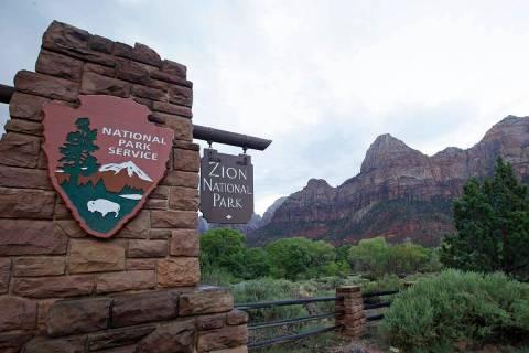 A Sept. 15, 2015, file photo, shows Zion National Park near Springdale, Utah. (AP Photo/Rick Bo ...