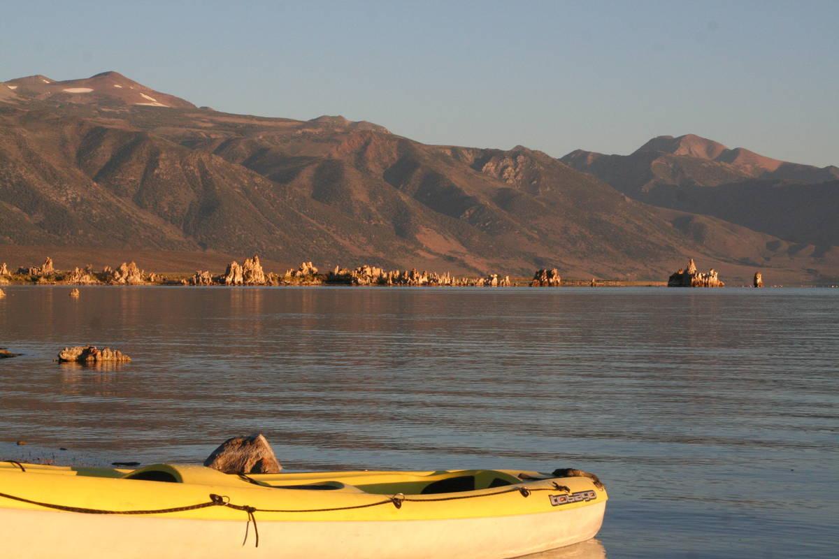 Kayaking is a wonderful way to explore the 65 square mile Mono Lake. (Deborah Wall Las Vegas Re ...