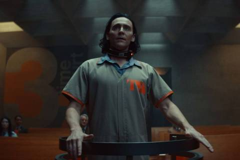 "Tom Hiddleston stars in the Disney+ series ""Loki."" (Marvel Studios)"