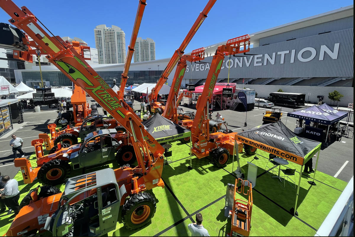 The Xtreme Manufacturing booth is seen in front of the new West Hall expansion of the Las Vegas ...
