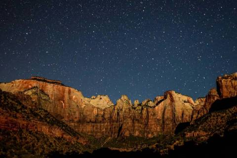 View of Temples and Towers of the Virgin in Zion National Park (Avery Sloss, National Park Service)