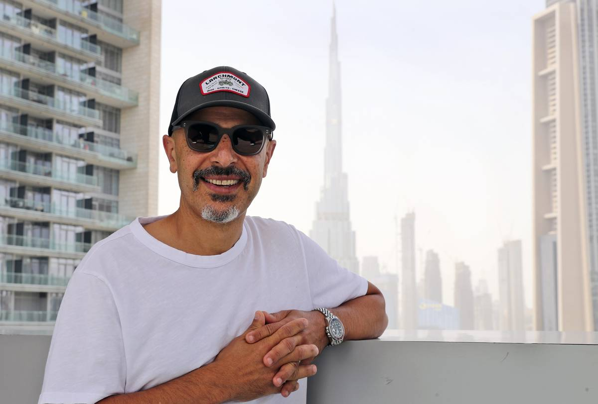 Stand-up comedian Maz Jobrani poses in Dubai, United Arab Emirates, Tuesday, May 25, 2021. For ...