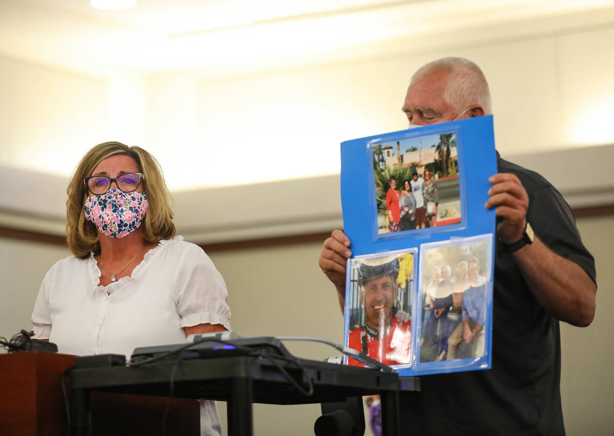 Annette Brown, sister of victim Michael Todd Murray, who was killed by Jordan Barson when he cr ...