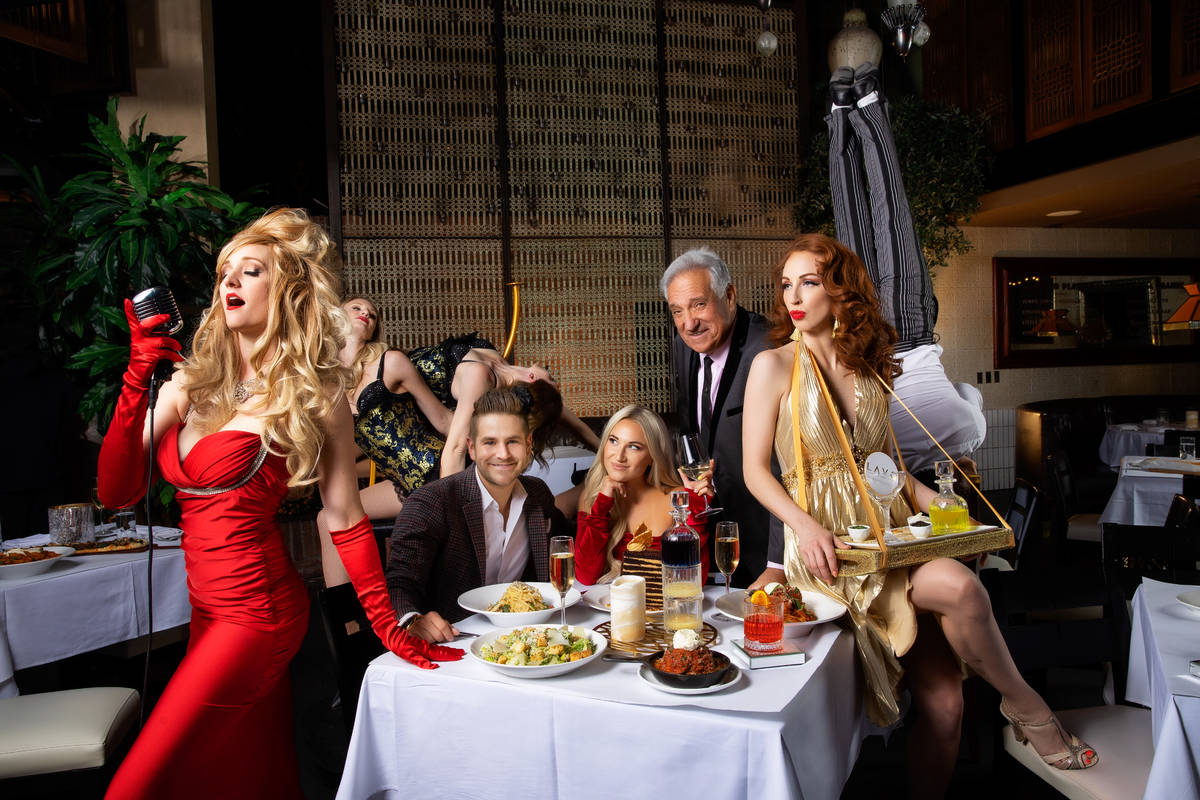 A promotional photo of requisite dinner-show action at Soirée Supper Club, which launches Sund ...
