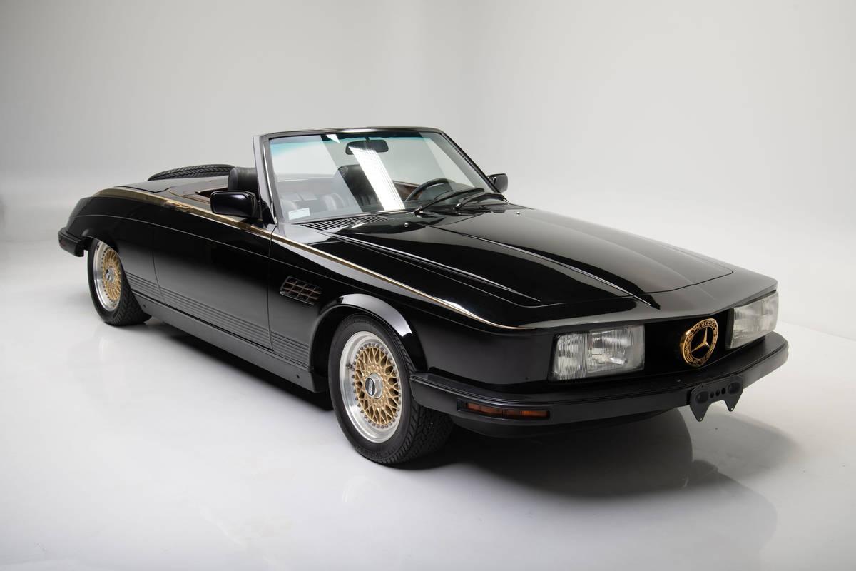 Wayne Newton's 1981 Mercedes-Benz 380SL Custom Roadster up for auction at the Barrett-Jackson L ...
