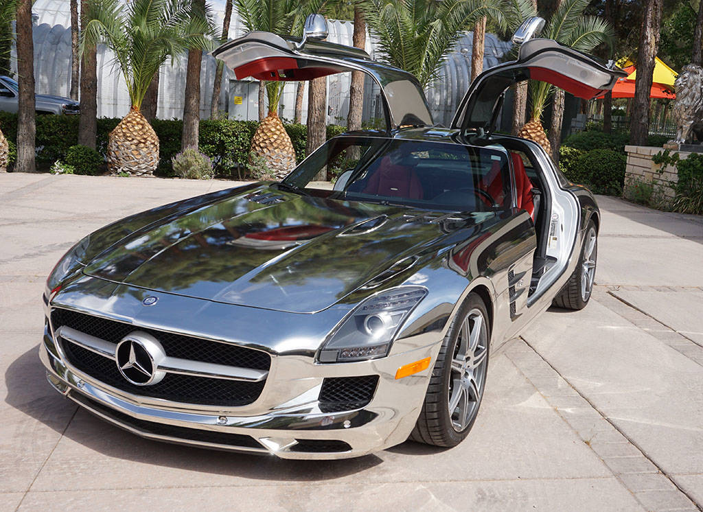 The 2011 Mercedes-Benz SLS AMG Gullwing Coupe, formerly owned by Siegfried & Roy, up for auctio ...