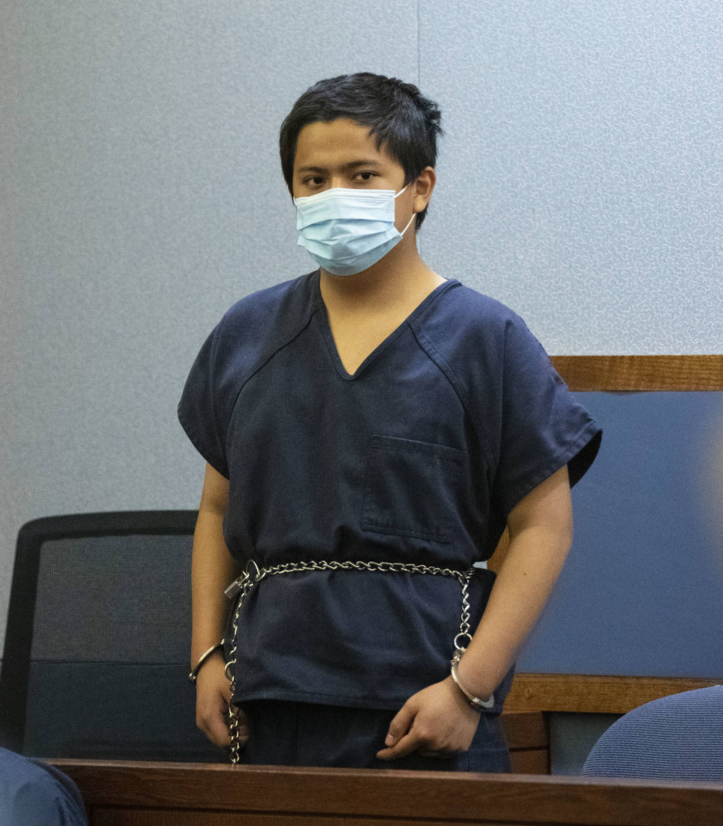 Aaron Guerrero, charged in the killing of Daniel Halseth, appears in court at the Regional Just ...