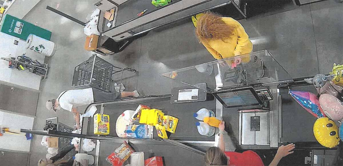 Sierra Halseth is shown on surveillance video at a Winco store in Las Vegas. (Clark County Dist ...
