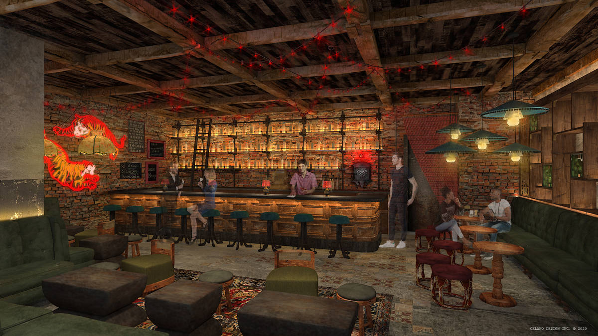 An artist's rendering of the speakeasy at Resorts World's Famous Foods Street Eats. (Resorts World)