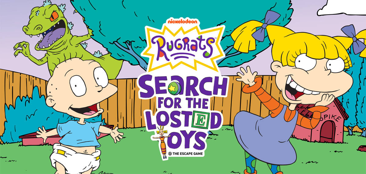 """The """"Rugrats""""-themed escape room """"Search for the Losted Toys"""" opens June 18 at The Forum Sh ..."""