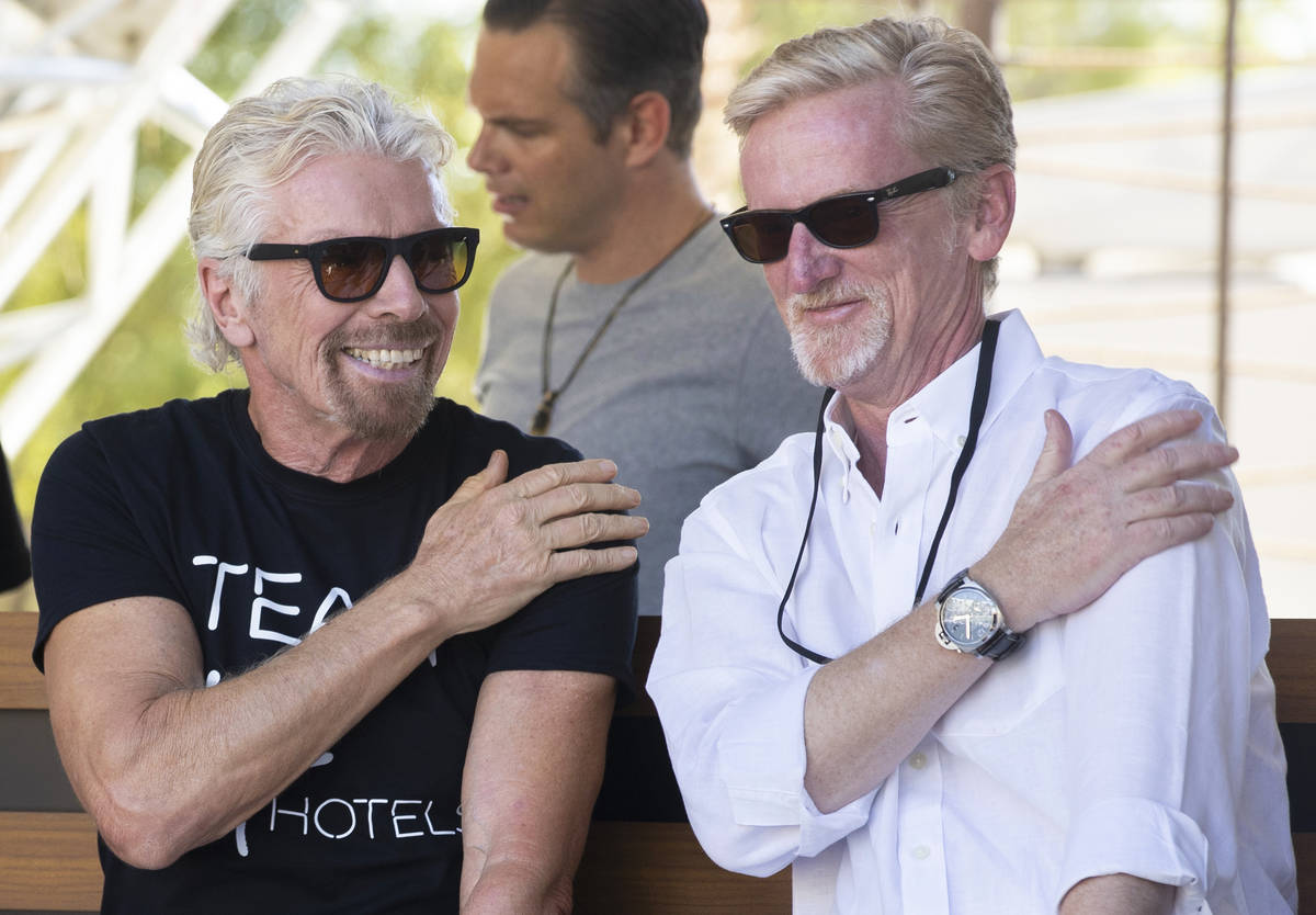 Sir Richard Branson, left, founder of Virgin Group, and James Bermingham, chief executive offic ...