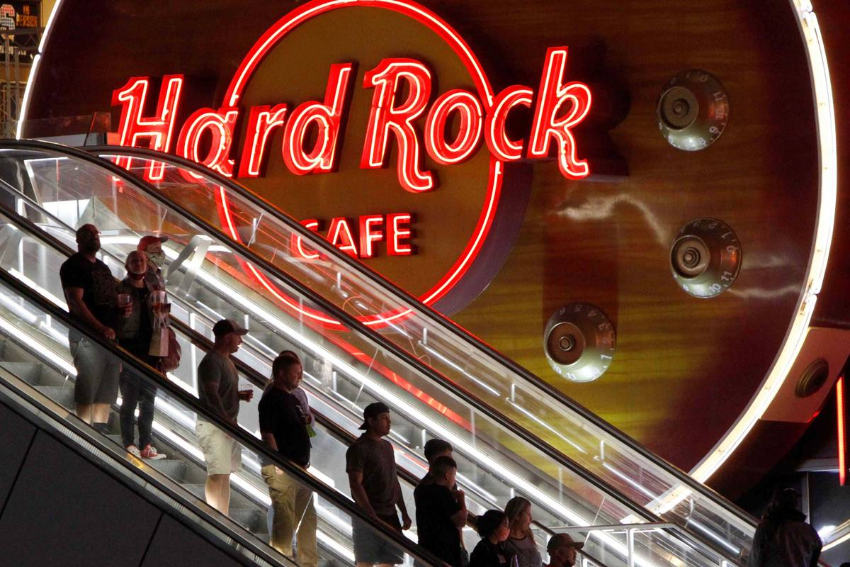 The Hard Rock Cafe on the Las Vegas Strip is joining in the brand's 50th anniversary celebratio ...