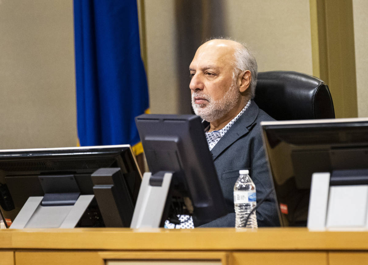 Las Vegas City Councilman Stavros Anthony looks on during a Las Vegas City Council meeting in L ...