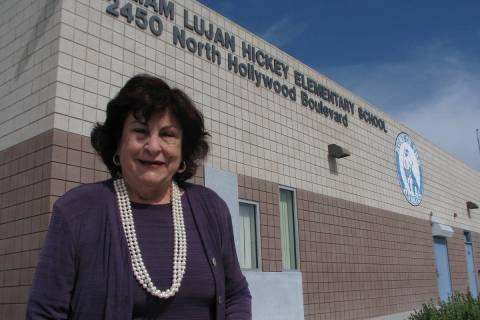 Lilliam Lujan Hickey, seen in a May 20, 2013 visit to her namesake school at 2450 N. Hollywood ...