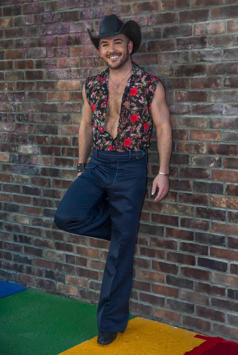 Country music singer Chase Brown on the red carpet as alternative lifestyle bar The Garden is c ...