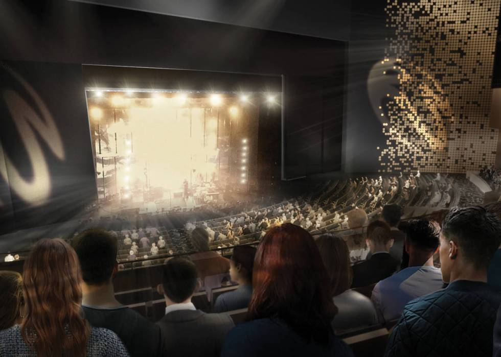 The 13,550-square-foot stage at The Theatre will be one of the biggest on The Strip. (Resorts W ...