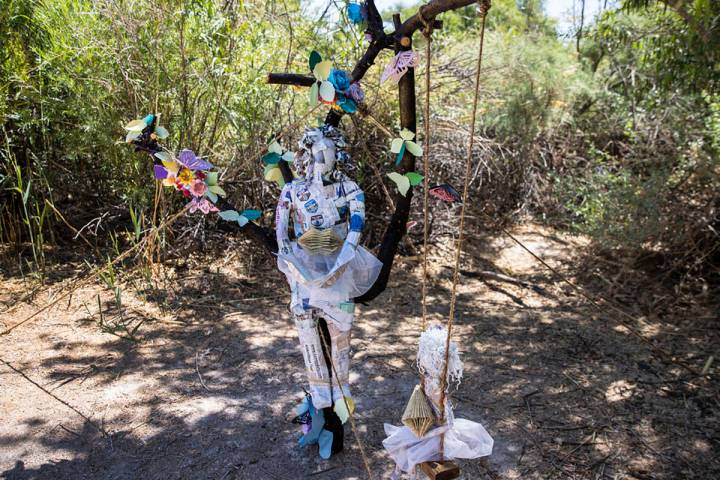An art work is displayed along the Clark County Wetlands ParkÕs trails, on Friday, June 11, 20 ...