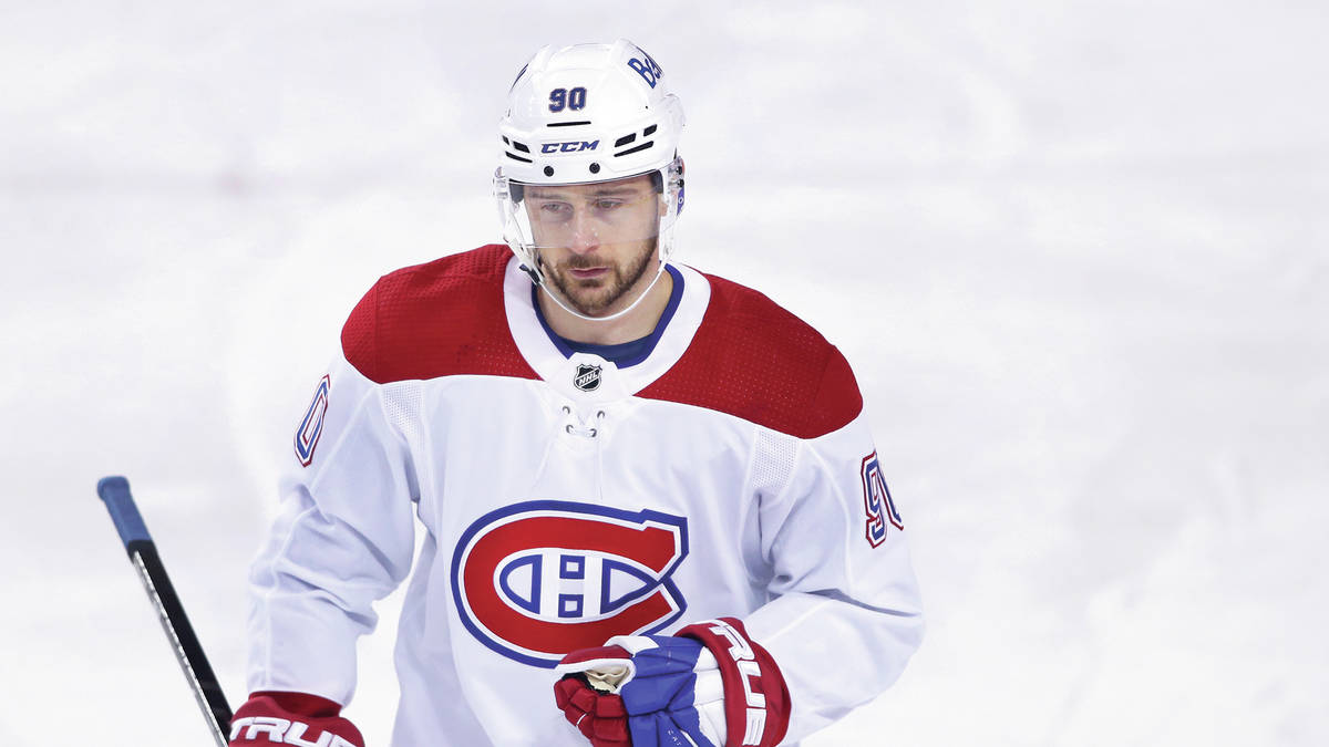 Montreal Canadiens player Tomas Tatar, from Slovakia, during an NHL hockey game, Friday, April ...