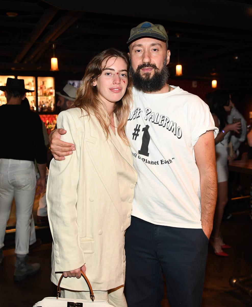 Actress Clara McGregor and writer/ director Jimmy Giannopoulos attend the world premiere of fe ...