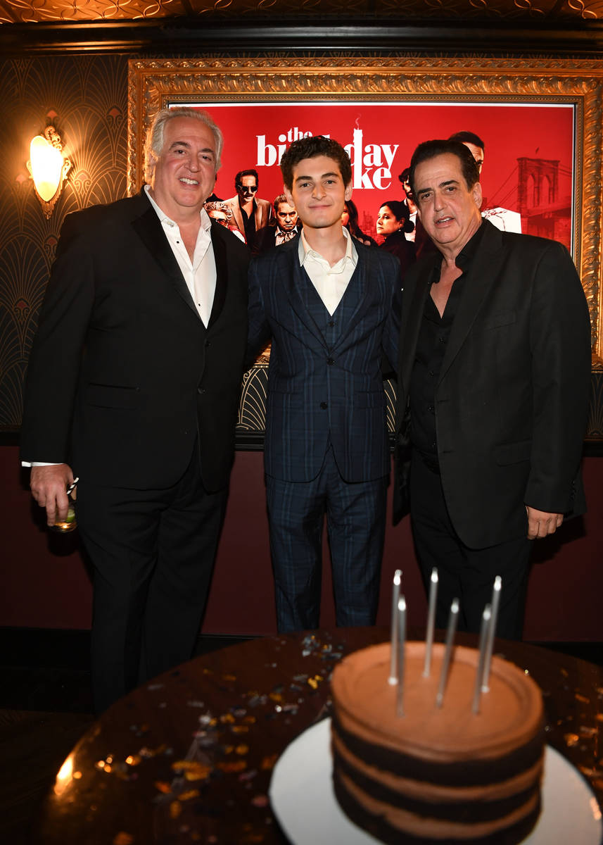 Actor Nick Vallelonga, actor David Mazouz and actor Frank Vallelonga attend the world premiere ...