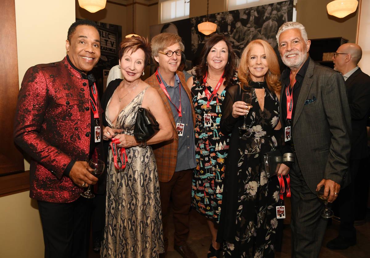 Earl Turner, Christine Turner, Mac King, Jennifer Sils, Kelly Clinton and Clint Holmes attend t ...
